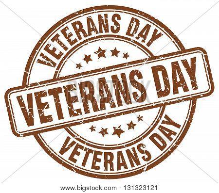 Veterans Day Brown Grunge Round Vintage Rubber Stamp.veterans Day Stamp.veterans Day Round Stamp.vet