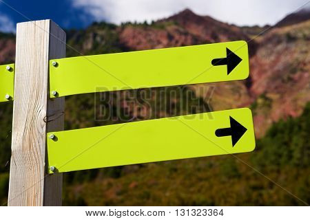 View of directional green signals.