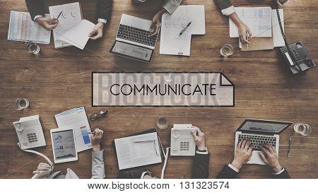 Communicate Connect Conversation Discussion Concept