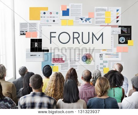 Forum Communication Information Message Concept