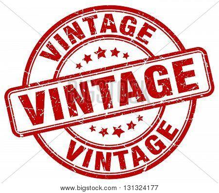 Vintage Red Grunge Round Vintage Rubber Stamp.vintage Stamp.vintage Round Stamp.vintage Grunge Stamp