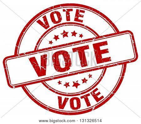 Vote Red Grunge Round Vintage Rubber Stamp.vote Stamp.vote Round Stamp.vote Grunge Stamp.vote.vote V