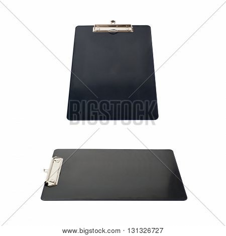 Set of Black empty Clipboard over isolated white background