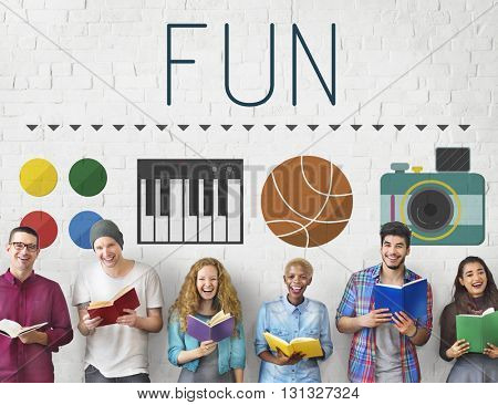 Fun Funny Enjoy Entertainment Interesting Happy Concept