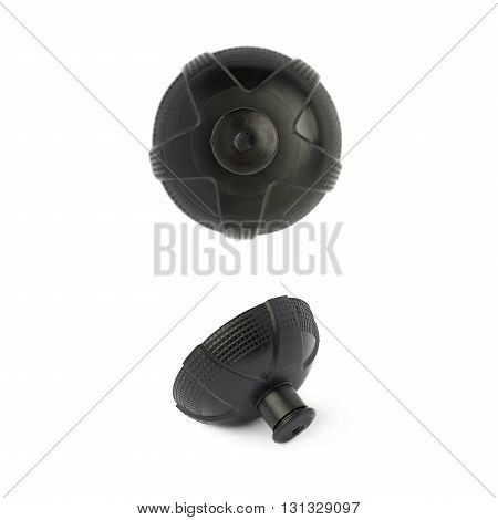 Set of  Water sport plastic bottle black cap isolated over the white background