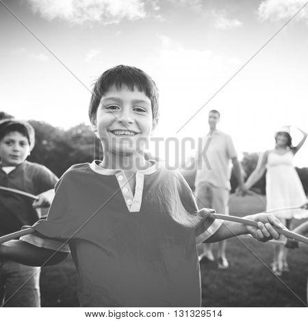 Family Bonding Activity Lifestyle Concept