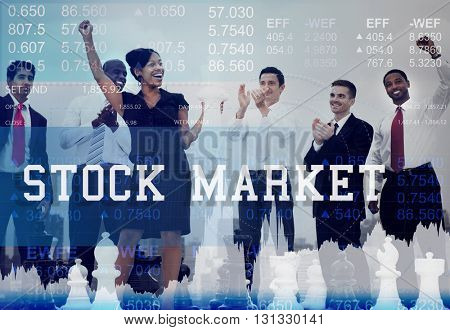 Stock Market Exchange Global Finance Shares Concept