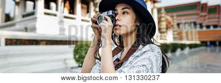 Girl Traveling Leisure Lifestyles Holiday Concept