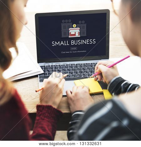 Small Business Entrepreneur Investment Marketing Management Concept