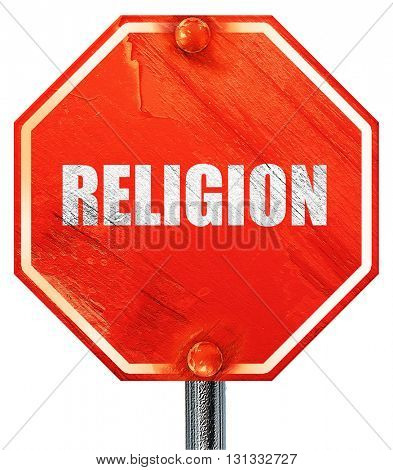 religion, 3D rendering, a red stop sign