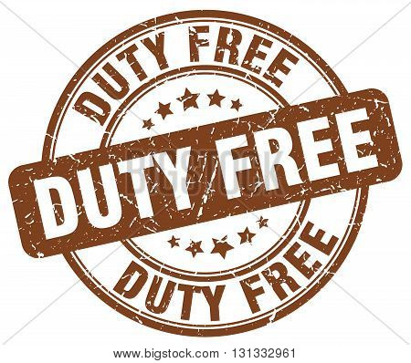 duty free brown grunge round vintage rubber stamp.duty free stamp.duty free round stamp.duty free grunge stamp.duty free.duty free vintage stamp.