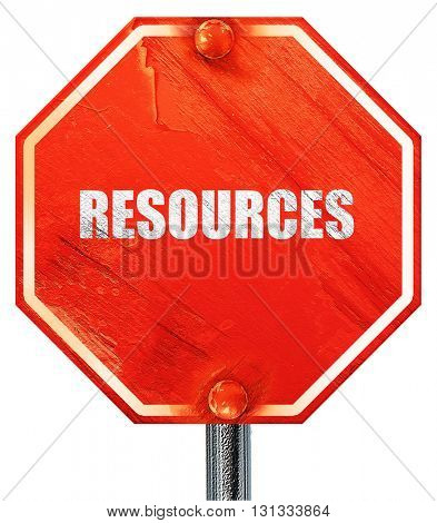 resources, 3D rendering, a red stop sign