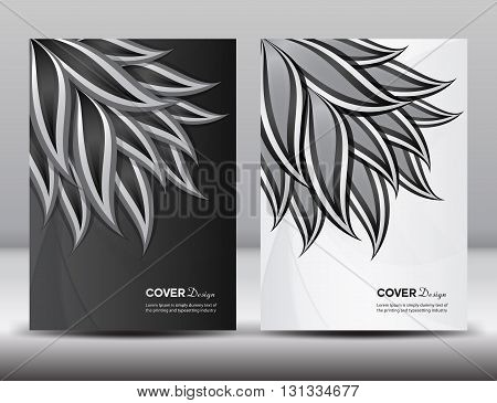 Set Black and White Cover Annual report design vector illustration cover template brochure flyer template poster booklet leaflet