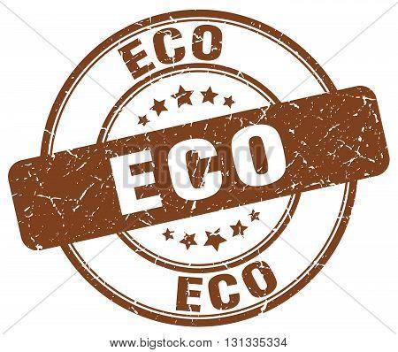 eco brown grunge round vintage rubber stamp.eco stamp.eco round stamp.eco grunge stamp.eco.eco vintage stamp.