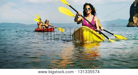 Kayak Activity Leisure Exercise Tourism Vacation Concept