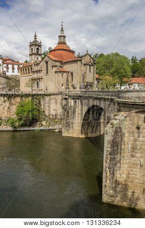 Roman Bridge Leading To Historical Town Amarante