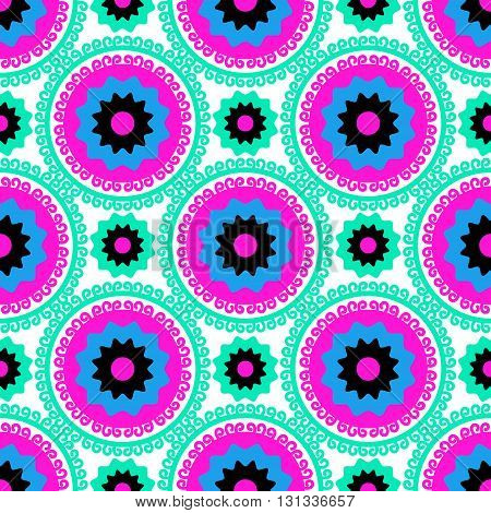 Seamless pattern Suzani is a type of embroidered and decorative tribal textile made in Central Asian Persian Texture for textiles web page textile wallpapers surface design fashion