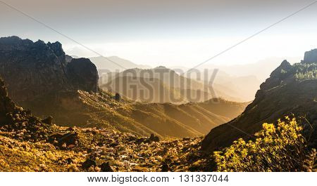 scenic mountain landscapes - Gran Canaria, Spain