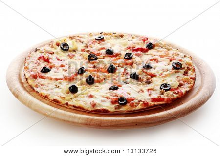 Natural form foods. Fast food Pizza. Shot in a studio.