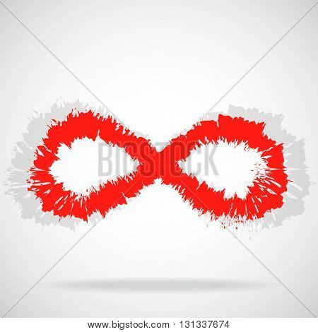 Sign infinity with brush, abstract symbol, logo