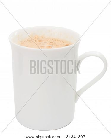 coffee classical cappuccino isolated on white background
