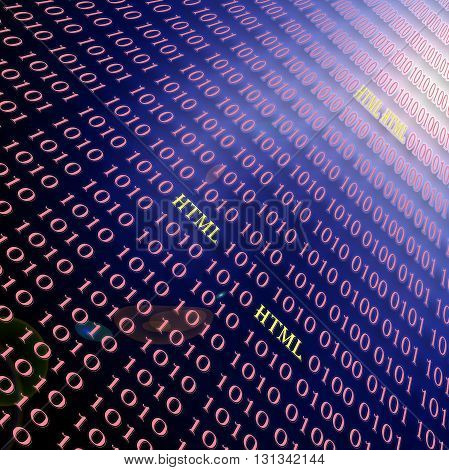 Save Download Preview Abstract coloring special effect gradients background with visual lens flare effect,binary code numbers one and zero