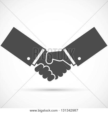 Businessman handshake illustration. Handshake icon for business. Vector illustration