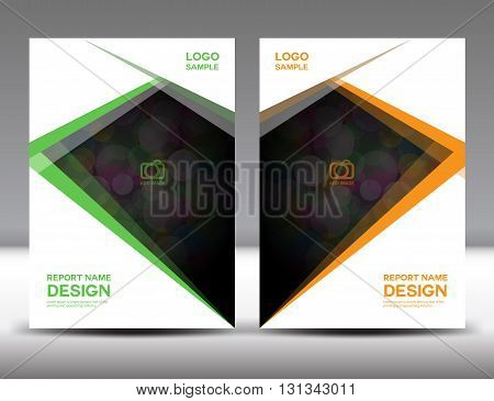 Set Cover Annual report designcover designpolygon background book cover brochure flyer template poster booklet leaflet