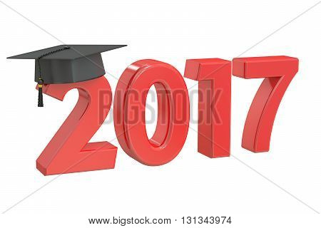 Graduate 2017 3D rendering isolated on white background
