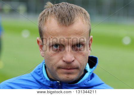 Player Of Ukraine National Football Team Oleg Gusev