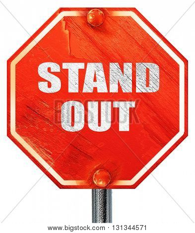 stand out, 3D rendering, a red stop sign