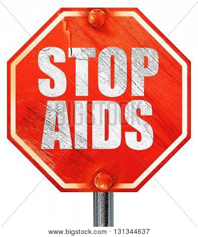 stop aids, 3D rendering, a red stop sign