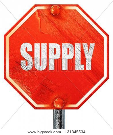 supply, 3D rendering, a red stop sign