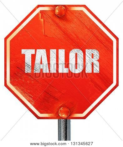 tailor, 3D rendering, a red stop sign