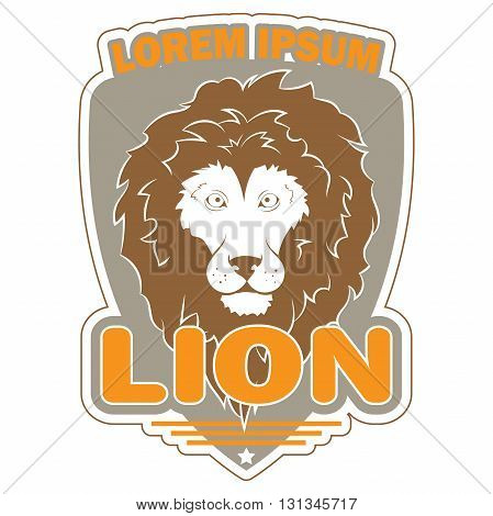 stylish vector logo with the image of a lion