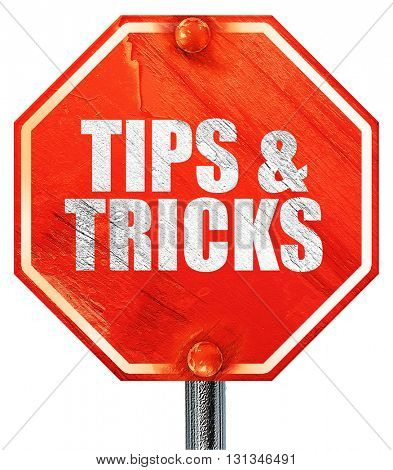 tips , 3D rendering, a red stop sign