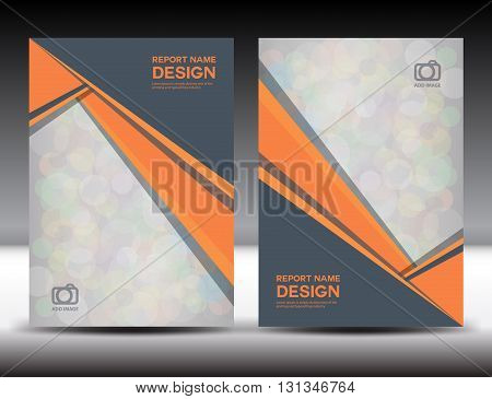 Set Orange Cover Annual report design cover design polygon background book cover brochure flyer template poster booklet leaflet