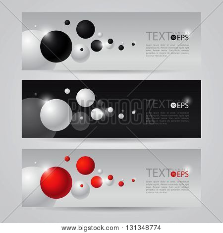 flyer black white red vector with flying bubbles