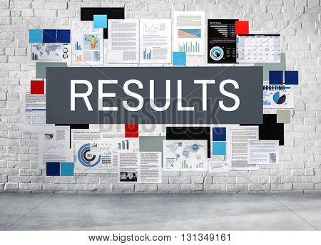 Results Efficiency Productivity Evaluate Progress Concept