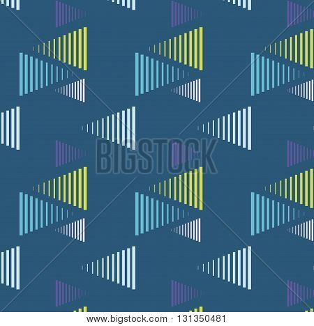 Vector triangle lines background colorful pattern cover bright print. Stylish fashion trendy illustration with geometric repetition figures