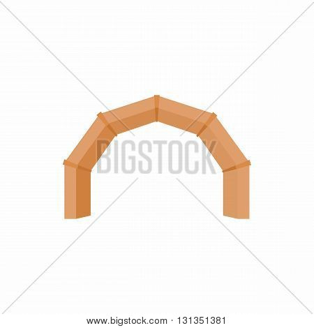 Stone arch icon in cartoon style on a white background