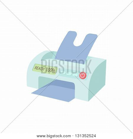 Printer icon in cartoon style on a white background