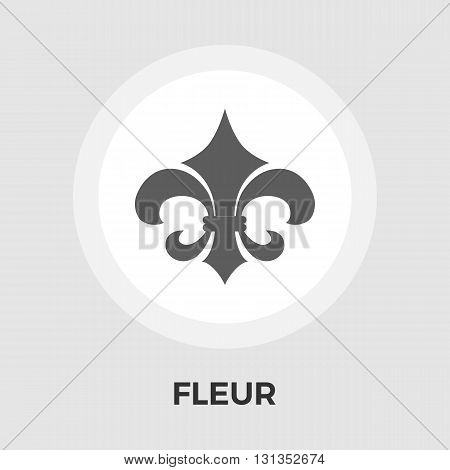 Fleur icon vector. Flat icon isolated on the white background. Editable EPS file. Vector illustration.