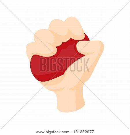 Antistress red ball icon in cartoon style on a white background