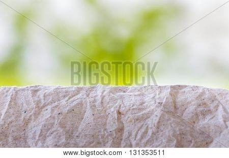 wrinkled paper made from waste secondary background