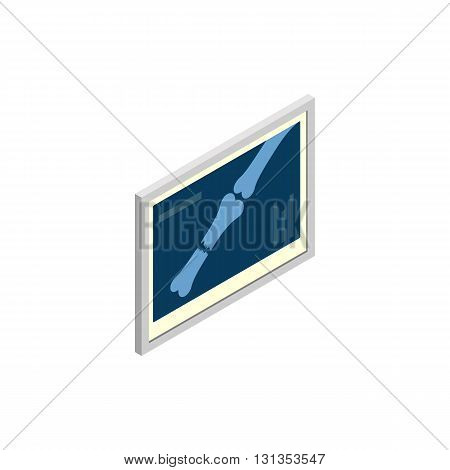 Bones x-ray dogs icon in isometric 3d style isolated on white background. Veterinary medicine and treatment symbol