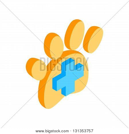 Trail dogs icon in isometric 3d style isolated on white background. Veterinary symbol
