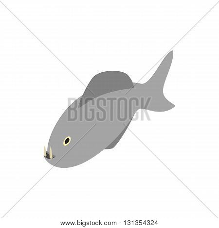 Vampire fish icon in isometric 3d style isolated on white background. Sea and ocean symbol