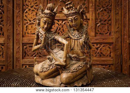 A Figurine Of The Hindu Goddess