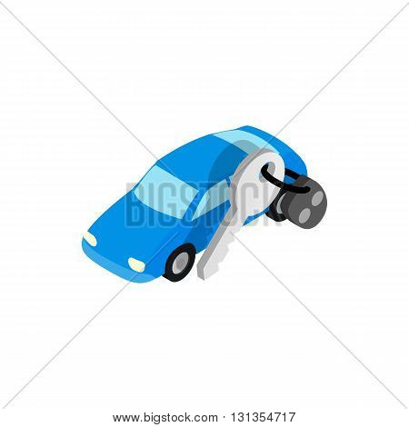 Car evacuated icon in isometric 3d style isolated on white background. Transport and service symbol